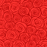 Seamless abstract red roses background Royalty Free Stock Photo