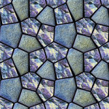 Seamless abstract relief pattern with glittering blue and pink crystals Stock Images