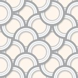 Seamless Abstract Retro Circles Pattern. Seamless pattern of layered grey concentric circles with drop shadows vector illustration