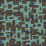 Seamless abstract retro design of organic lines and shapes. stock illustration