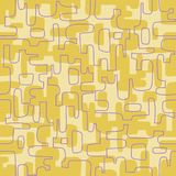 Seamless abstract retro design of organic lines and shapes. royalty free illustration