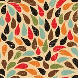 Seamless abstract retro drops pattern Stock Photo