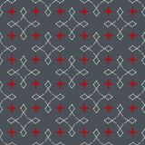Seamless abstract retro geometric pattern. Blended rectangles and stars in vertical and horizontal layout. stock illustration