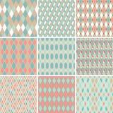 Seamless abstract retro pattern. Set of 9 Royalty Free Stock Photos