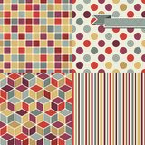 Seamless abstract retro pattern. Stylish geometric Stock Images