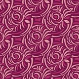 Seamless abstract rose flower pattern. For textile fabrics and cloths stock illustration