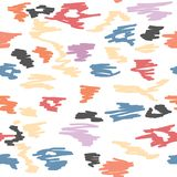 Seamless abstract scribble pattern on white. Background Stock Images