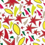 Seamless abstract shape pattern. With Autumn colors stock illustration
