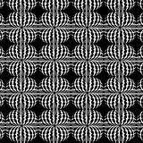 Seamless abstract shapes black and white pattern. Seamless black and white pattern with abstract shapes. Repeating modern background stock illustration