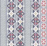 Seamless Abstract shapes pattern in ethnic pattern on fabric texture. Abstract shapes pattern ikat,tribal ethnic pattern on fabric texture stock illustration