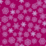 Seamless abstract snow flakes background Royalty Free Stock Photos