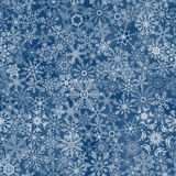 Seamless abstract snowflake background Stock Photo