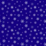 Seamless abstract snowflake pattern. Royalty Free Stock Photography