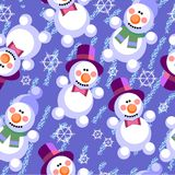 Seamless abstract snowman grunge texture 536 Royalty Free Stock Images