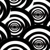 Seamless abstract spiral black and white pattern Royalty Free Stock Images