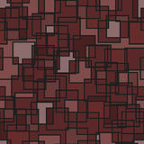 Seamless abstract square pattern. Seamless abstract squares pattern in red colors Stock Illustration