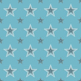 Seamless Abstract Stars Pattern Royalty Free Stock Photo