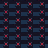 Seamless Abstract Stars Pattern Stock Image
