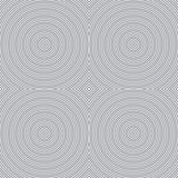 Seamless abstract striped background - embossed surface, circle. Color gray. 3D effect. Vector illustration Royalty Free Illustration