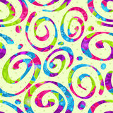 Seamless Abstract Swirl Bright Pattern Royalty Free Stock Image