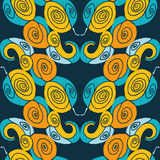 Seamless abstract symmetry pattern Stock Image