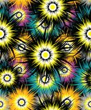 Seamless abstract textile fabric floral pattern Royalty Free Stock Images