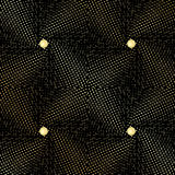 Seamless abstract texture in the form of upholstery fabric with gold buttons Royalty Free Stock Photos