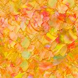 Seamless abstract textured oil pattern autumn color leaves concept, painting on canvas. Impasto artwork. stock images