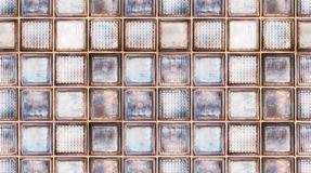 Seamless abstract textured pattern background of transparent multicolor glass cubes in vintage retro style, panoramic web banner.  stock photos
