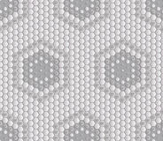 Seamless abstract tile background - hexagons. The color of the metal midtone. Royalty Free Stock Photography