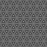 Seamless abstract tile background - triangles. The color  dark tone. 3D effect. Vector illustration Stock Photos
