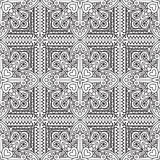 Seamless Abstract Tribal Black-White Pattern. Hand Drawn Ethnic Royalty Free Stock Photo
