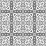 Seamless Abstract Tribal Black-White Pattern In Mono Line Style. Royalty Free Stock Photography