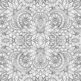 Seamless Abstract Tribal Pattern. Hand Drawn Ethnic Texture, Flight of Imagination Stock Photo