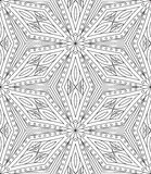 Seamless Abstract Tribal Pattern. Hand Drawn Ethnic Texture. Vec Stock Photos