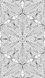 Seamless Abstract Tribal Pattern. Hand Drawn Ethnic Texture. Vec Royalty Free Stock Photo