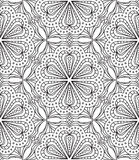 Seamless Abstract Tribal Pattern. Hand Drawn Ethnic Texture. Vec Royalty Free Stock Photography
