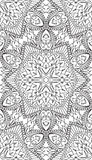 Seamless Abstract Tribal Pattern. Hand Drawn Ethnic Texture. Vec. Tor Illustration Royalty Free Stock Images
