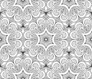 Seamless Abstract Tribal Pattern. Hand Drawn Ethnic Texture. Vec Stock Photo