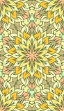 Seamless abstract tribal pattern. Hand drawn ethnic texture, vec Stock Image