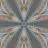 Seamless abstract tribal pattern. Hand drawn ethnic texture, vec Stock Photos
