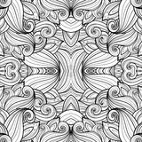 Seamless Abstract Tribal Pattern. (Vector). Hand Drawn Ethnic Texture, Flight of Imagination Stock Images