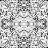 Seamless Abstract Tribal Pattern. (Vector). Hand Drawn Ethnic Texture, Flight of Imagination Stock Photos