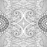 Seamless Abstract Tribal Pattern (Vector). Hand Drawn Ethnic Texture, Flight of Imagination Royalty Free Stock Photography