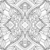 Seamless Abstract Tribal Pattern (Vector). Hand Drawn Ethnic Texture, Flight of Imagination Stock Photography