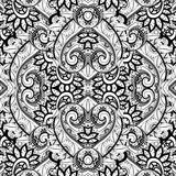 Seamless Abstract Tribal Pattern (Vector). Hand Drawn Ethnic Texture, Flight of Imagination Royalty Free Stock Photos