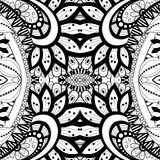 Seamless Abstract Tribal Pattern (Vector). Hand Drawn Ethnic Texture, Flight of Imagination Stock Images