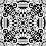 Seamless Abstract Tribal Pattern (Vector). Hand Drawn Ethnic Texture, Flight of Imagination Stock Image