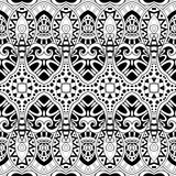 Seamless Abstract Tribal Pattern (Vector). Hand Drawn Ethnic Texture, Flight of Imagination Royalty Free Stock Images