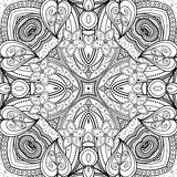 Seamless Abstract Tribal Pattern (Vector). Hand Drawn Ethnic Texture, Flight of Imagination Royalty Free Stock Photo